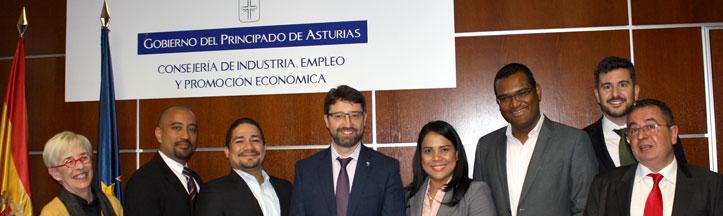 El MIDES de Panamá es recibido por el Consejero de Industria en su visita al Principado