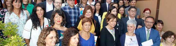 La inauguración y entrega de reconocimientos a cada una de estas empresas y entidades estuvo presidida por la Alcaldesa de Gijón, Dña. Carmen Moriyón.